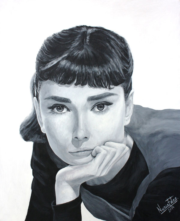 cuadro-Andrey-Hepburn