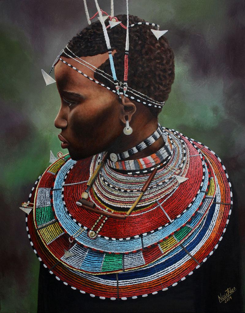 cuadro-La-niña-Masai