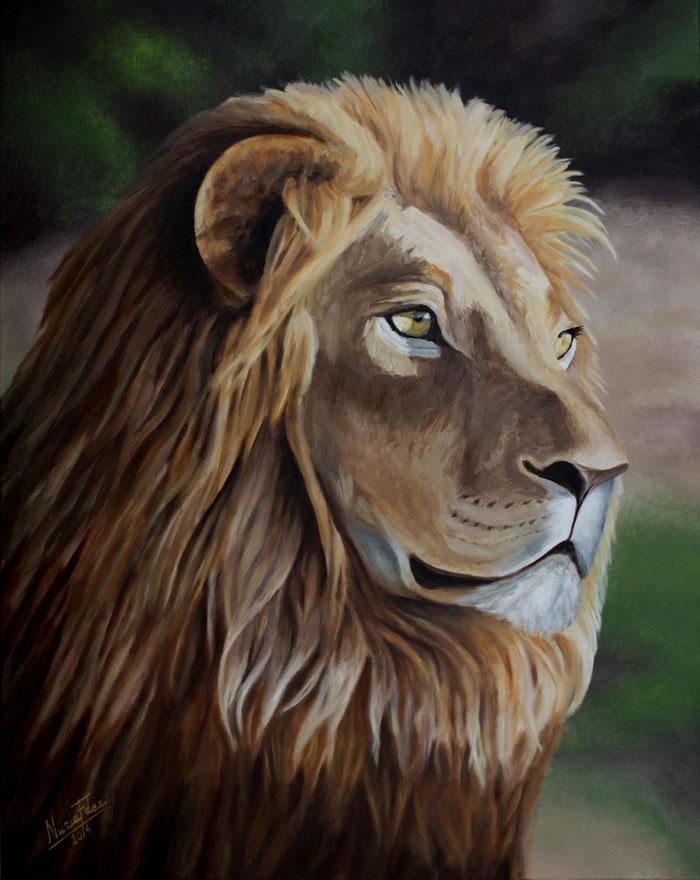 cuadro-mirada-de-león