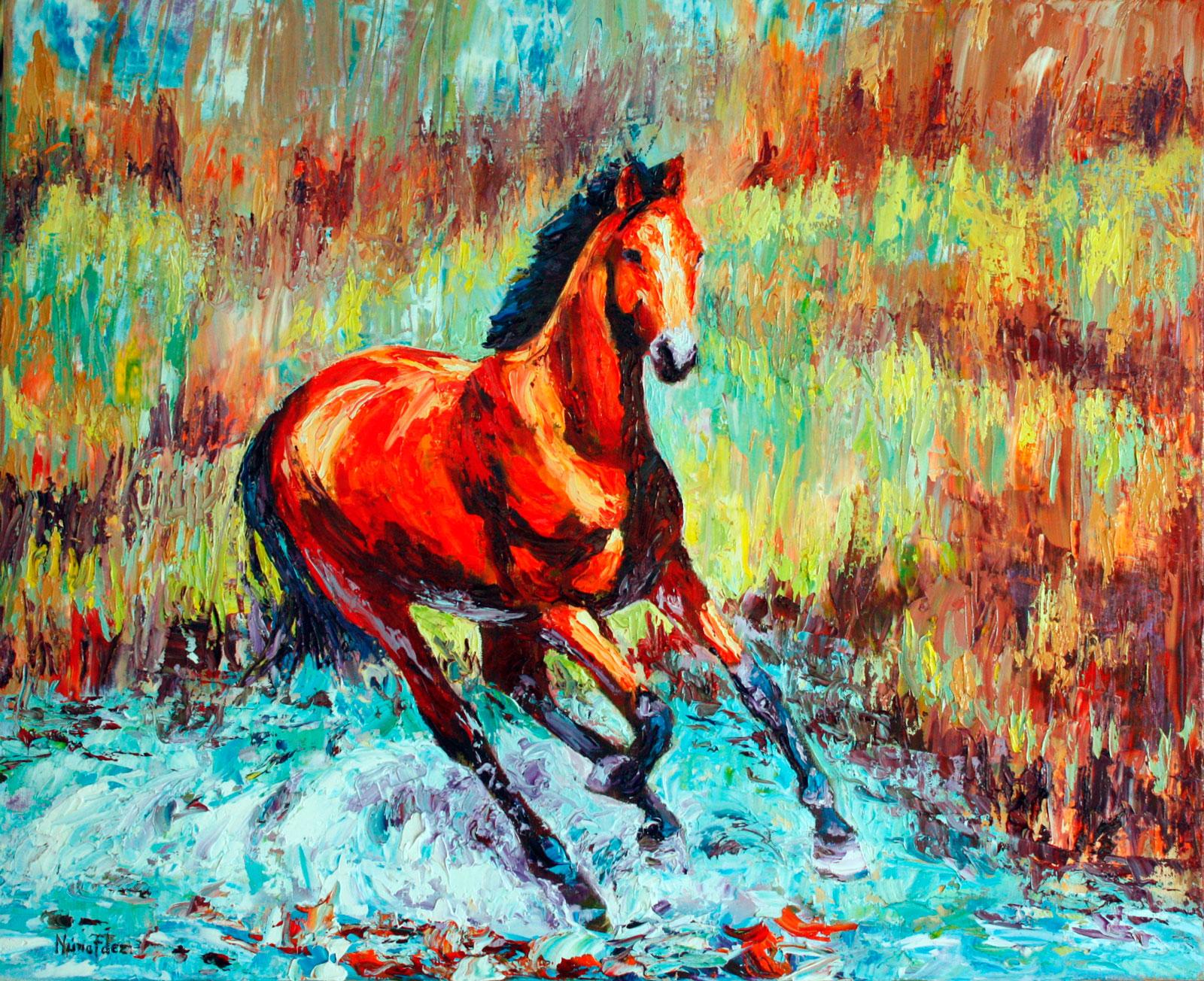 cuadro-caballo-a-color