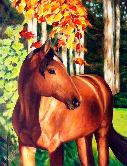 cuadro--caballo-en-otono