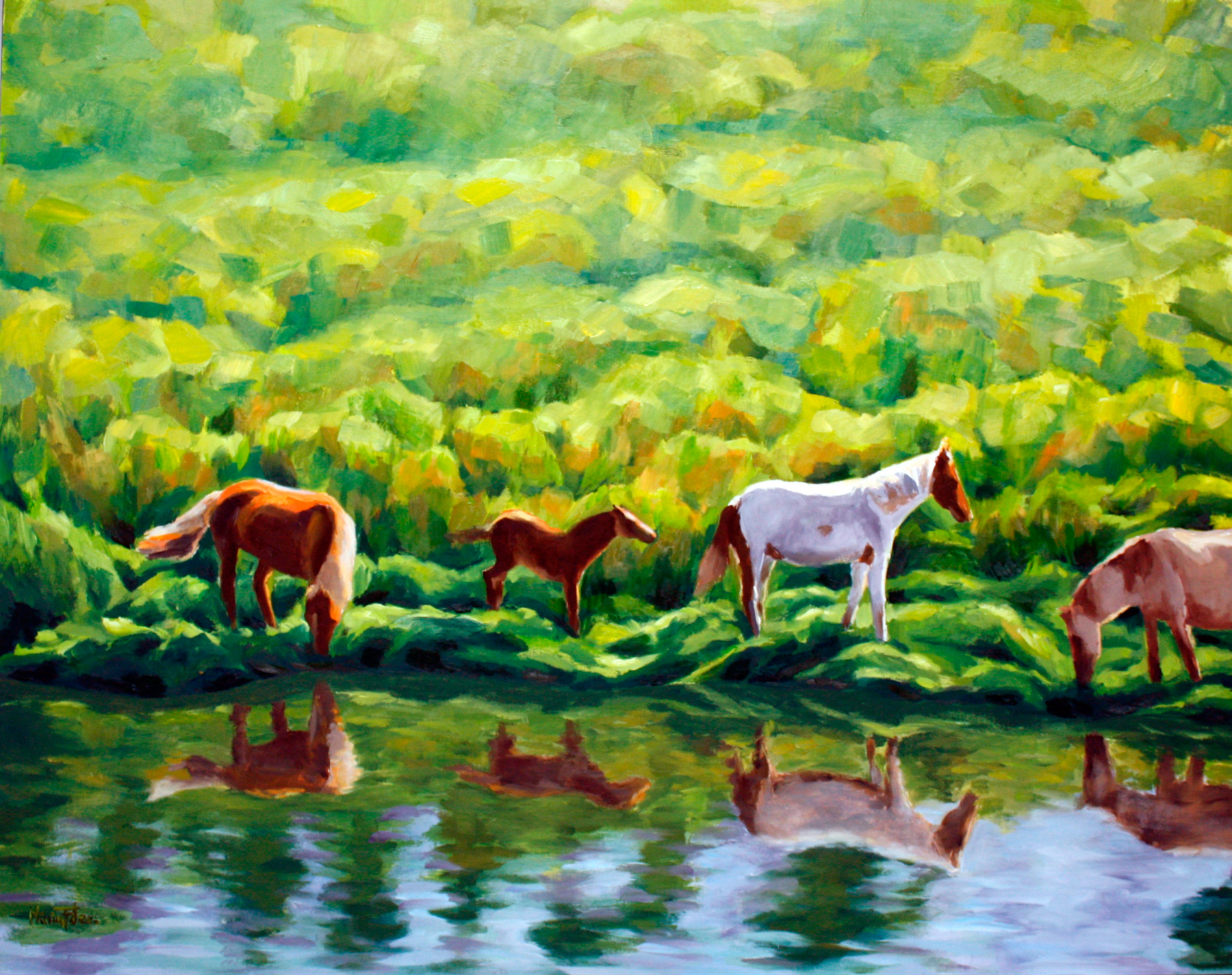 caballos-junto-al-rio
