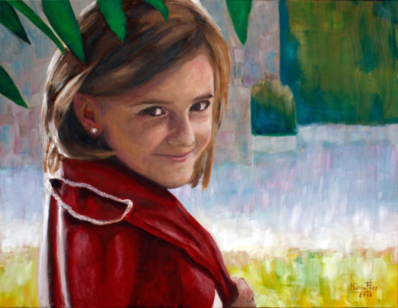 María Martínez. Óleo sobre lienzo.