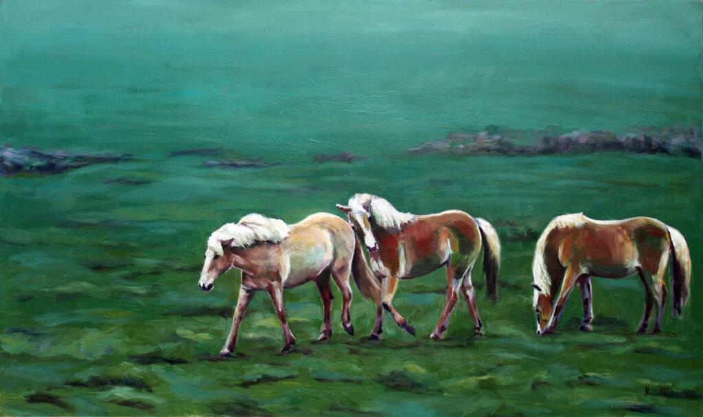 cuadro tierra de caballos